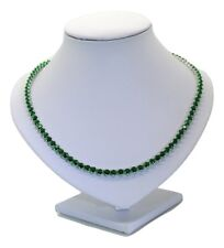925 Argento Sterling RIVIERA simulato Emerald/Collana tennis, 23.5 KT 4.5 mm