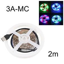 Bright LED 50CM/1M/2M  USB LED Strip Lights TV Back Light RGB Colour Changing