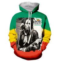 Mens Women classical Bob Marley 3D Print Hoodie Casual Sweatshirt Pullovers Tops