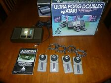 Vintage Atari Ultra Pong Doubles Video Game Console w/Orig Box & Instr.  Works