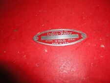 1935,1936,1937,1939,1948,1950 chevrolet delco remy tag red buick pontiac gm