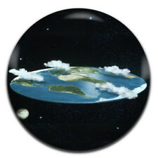 Flat Earth Conspiracy 25mm / 1 Inch D Pin Button Badge