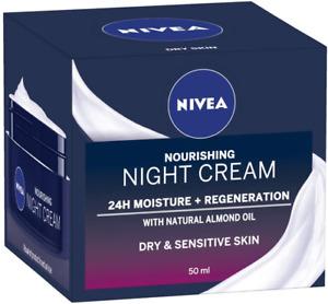 NIVEA Daily Essentials Rich Regenerating Face Night Cream with 24 Hour Moisture