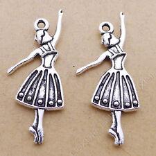 10pc Charms Angel Dancer Pendant Jewellery Making Crafts Tibetan Silver /S42