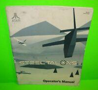 Steel Talons ORIGINAL Atari Video Arcade Game Machine Service Owners Manual 1991