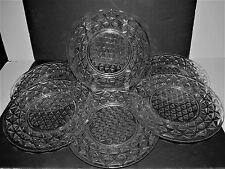 """Imperial Glass Clear Mount Vernon 8"""" Luncheon Salad Plates set of 6"""