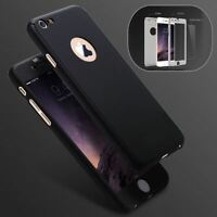 Ultra Thin Hybrid 360° Hard Case & Tempered Glass Cover For iPhone 6 6S 7 8 Plus