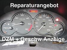 Reparatur Tacho + Drehzahlmesser Peugeot 206 (mit 2 Steckern) Diesel HDI + 1,9D.