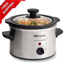 New ListingSmall Slow Cooker Stainless Steel Crock Pot Mini Kitchen Appliance Portable New