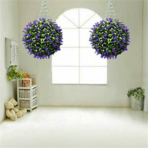 RealisticFake Purple Lavender Flower Ball Hanging Topiary Home Basket Decor New