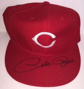 "Pete Rose Cincinnati Reds Autographed Baseball Hat Cap 100% Wool 7 3/8"" w/ COA"