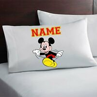 Mickey Mouse Personalized Custom Pillow Case Custom Made w. Your Name