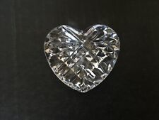 Vtg Lead Crystal Cut Glass Heart Shaped Diomond Cut Paperweight
