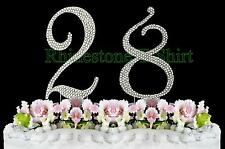 Large Rhinestone NUMBER (28) Cake Topper 28th Birthday Wedding Party Anniversary
