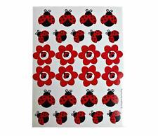 Creative Converting Ladybug Sticker Sheet Birthday Party Loot Bag Favor Supplies