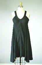 MIRCO GIOVANNINI Black V-Neck Heavy Knit Dress Italy IT 42 / US Medium