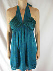 GORGEOUS SIZE 10 SHEIKE JADE SILK COCKTAIL DRESS DESIGNER