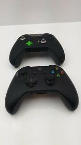 JOBLOT OF FAULTY BLACK XBOXONE CONTROLLERS X2 - UK SELLER