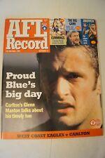 AFL Footy Record - 1999 - Semi Final - West Coast v Carlton