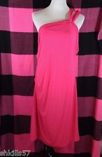 Victoria's Secret Hot Pink One-Shoulder Beach/Summer Cover-Up Dress XL - NWOT