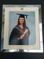 18mm MODERN SHINY SILVER CHROME GRADUATION PHOTOGRAPH/PICTURE FRAME