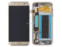 Affichage LCD écran Tactile Verre+Cadre Pour Samsung Galaxy S7 Edge G935F Gold