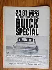 1963 Buick Special Sedan Ad Tops All in Mobil Economy Run Los Angeles to Detroit