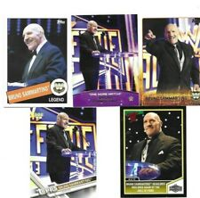 WCW BORN IN PIZZOFERRATO ITALY 5 BRUNO SAMMARTINO WRESTLING CARDS READ