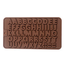 Letter/ Alphabet 3D Brick Mold Silicone Tray Chocolate Ice Cube Jelly Fun Mould