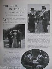 Duel Duelling Sword Fencing Foil France Rare Old Antique Edwardian Article 1904