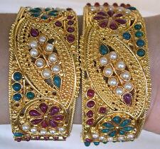 Bracelet Indian Bangle Pair Festival Boho Bollywood Party Bridal Wedding Jewelry