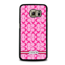 COACH PINK NEW LOGO Samsung Galaxy S3 S4 S5 S6 S7 Edge S8 Plus Note Phone Case