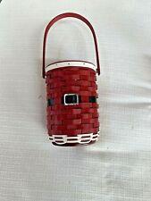 New ListingLongaberger 2012 Santa Belly Basket Wine Protector