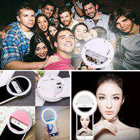 Stylish Selfie Ring LED  Fill Light Camera Photography For iPhone Android Phone