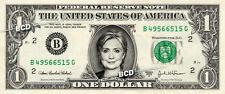 HILLARY CLINTON on REAL Dollar Bill Cash Money Memorabilia Collectible Celebrity
