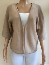 Part Two Beige Mohair Wool Blend Oversized Cardigan Size S Fits 10 12 14  #K80