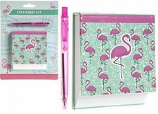 NOVELTY FLAMINGO DESIGN MEMO NOTE PAD NOTEPAD BOOK PAPER AND PEN SET