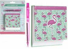 Novelty Flamingo Design Memo Note Pad Notepad Book Paper And Pen Set