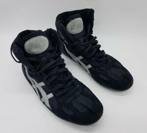 Vintage Asics Split Second Men's Split Sole Wrestling Shoes JN602 Black Sz 11.5
