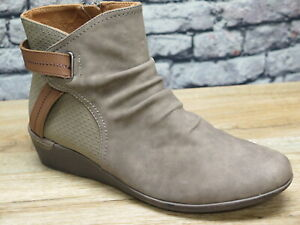 Cobb Hill Devyn Rouched Stone Leather Boot   *CI1853