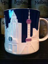 SHANGHAI China Blue Relief Starbucks Collectible Mug, 16oz