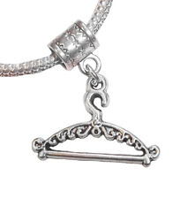 Clothes Hanger Fashion Designer Dress Shop Dangle Charm for European Bracelets