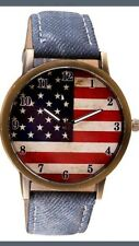 Watch~American Flag Patriot Watch~Quartz~Leather~4 Colors~S&H Discount