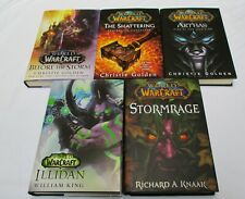 World Of Warcraft - 5 Hardcover book lot w/jackets - all First Editions - Vg!