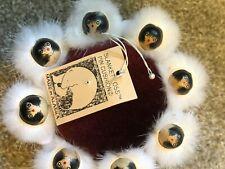 Vintage Alaska Eskimo Mink Fur Blanket Toss Pin Cushion Ornament