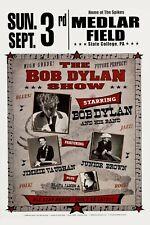 Bob Dylan & Jimmie Vaughan Medlar Field Pa. Concert Poster 12x18
