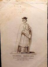 FRANCIA/ FRANCE,The Order of the Most Holy Trinity,Trinitario, grabado de 1788.