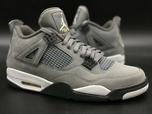 "Jordan 4 ""Cool Grey/White/Black/Yellow"" Sz 12 308497-007"
