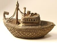 Antique Brass Dhokra Ship Boat  5½''   #10