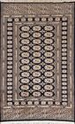 Excellent Geometric Tribal Bokhara Oriental Area Rug Hand-knotted NAVY BLUE 4x6